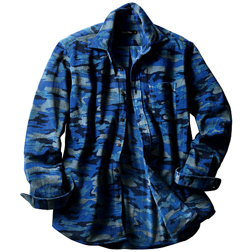【SALE】 【メンズ】 プリントフリースカジュアルシャツ – セシール