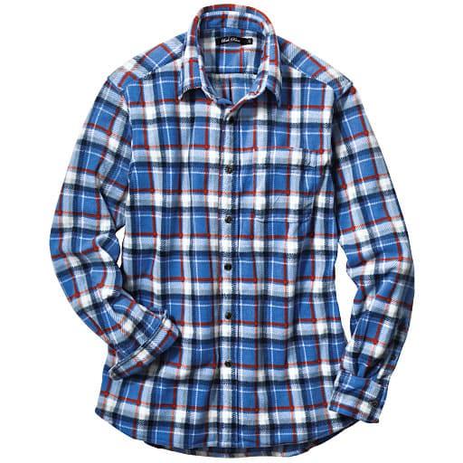 【SALE】 【メンズ】 プリントフリースカジュアルシャツ