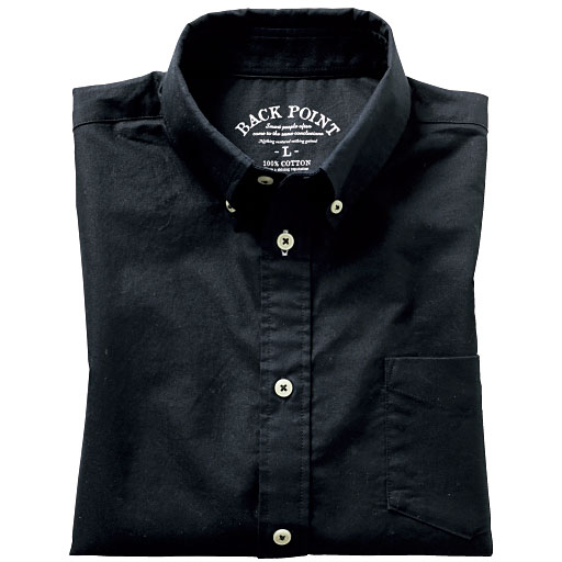 25%OFF【メンズ】 オックスフォードボタンダウンシャツ(半袖)