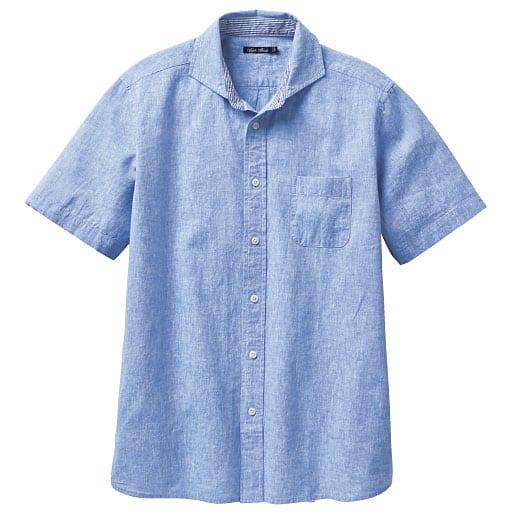 【SALE】 【メンズ】 リネンブレンドシャツ(半袖)