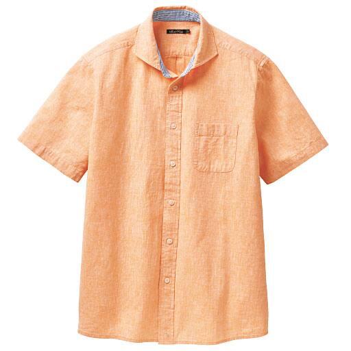 【SALE】 【メンズ】 リネンブレンドシャツ(半袖) – セシール