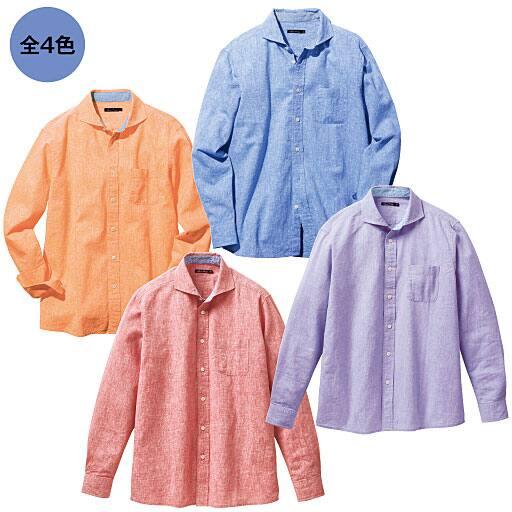 【メンズ】 リネンブレンドシャツ(長袖)