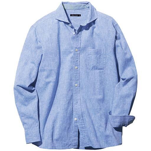 【SALE】 【メンズ】 リネンブレンドシャツ(長袖) – セシール