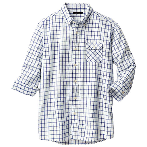 【SALE】 【メンズ】 オーガニックコットン100%シャツ(7分袖) – セシール