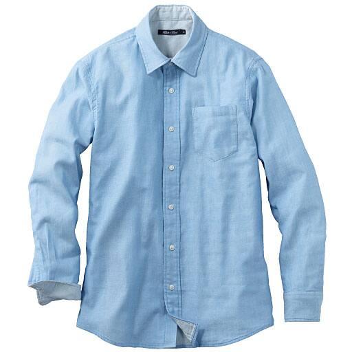 【SALE】 【メンズ】 オーガニックコットン100%ダブルガーゼシャツ