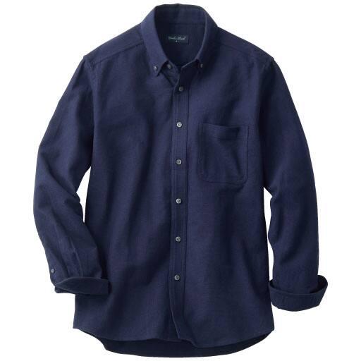 【メンズ】 綿100%起毛ボタンダウンシャツ