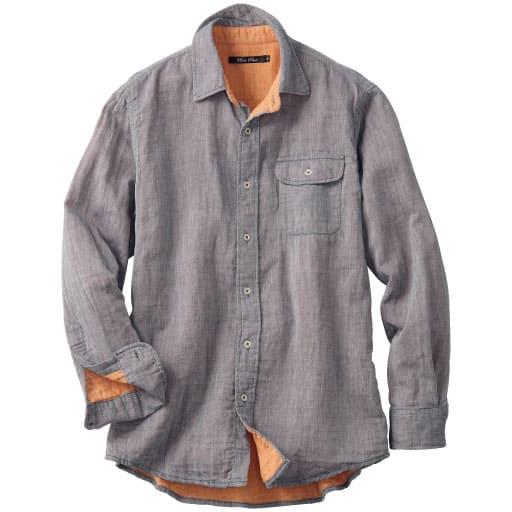 【メンズ】 綿100%ダブルガーゼシャツ – セシール