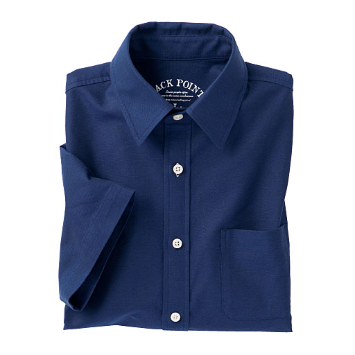 50%OFF【メンズ】 こだわりのオックスフォードシャツ(半袖) 綿100%の質感とドライ機能を両立!