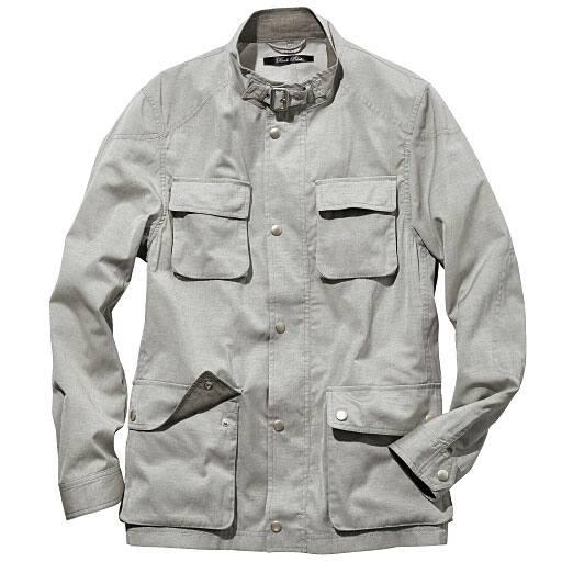 【SALE】 【メンズ】 ドライ麻混素材スタンドカラージャケット – セシール