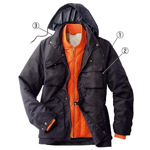 【メンズ】 軽量中綿ライナー付きジャケット(エアコンダウン)