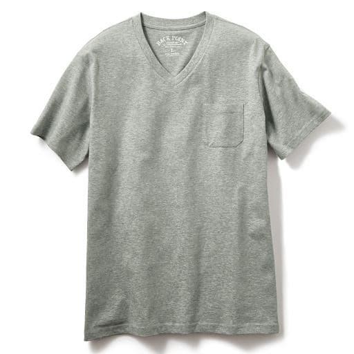 【メンズ】 綿100%VネックTシャツ(半袖)