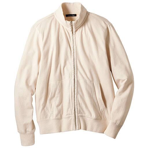 【SALE】 【メンズ】 シルク混ジップアップジャケット