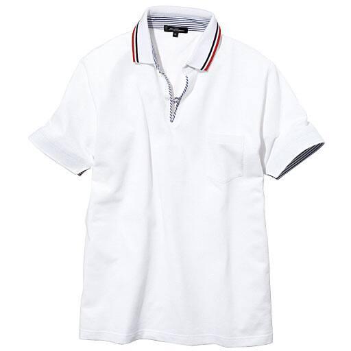 【SALE】 【メンズ】 ドライ・スキッパー風デザインポロシャツ – セシール