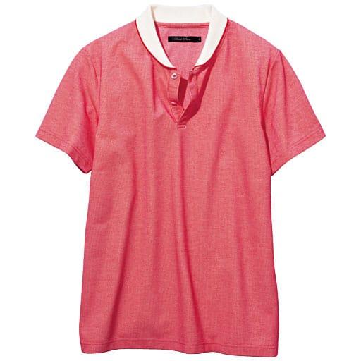 【SALE】 【メンズ】 ライン入り変形リブポロシャツ