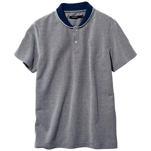 【SALE】 【メンズ】 ライン入り変形リブポロシャツ – セシール