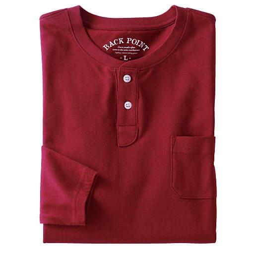 45%OFF【メンズ】 綿100%ヘンリーネックTシャツ(長袖)(S-7L) - セシール