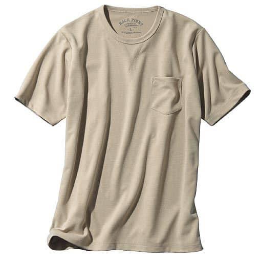 【メンズ】 ドライ・ガゼット使いデザインTシャツ。カジュアルにもスポーツにも使えるアイテム!