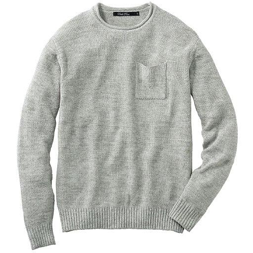 【SALE】 【メンズ】 ウォッシャブルニットTシャツ(長袖) - セシール