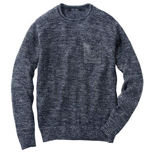【SALE】 【メンズ】 ウォッシャブルニットTシャツ(長袖)