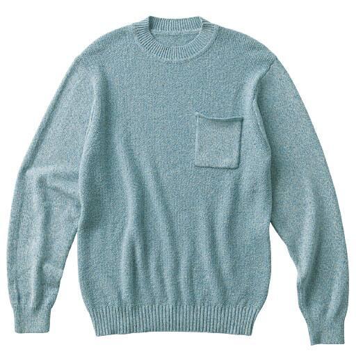 30%OFF【メンズ】 ウォッシャブルニットクルーネックTシャツ(長袖) さわやかな見た目&着心地が◎ - セシール