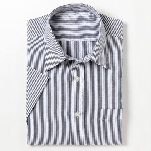 40%OFF【メンズ】 半袖先染めイージーアイロンYシャツ - セシール