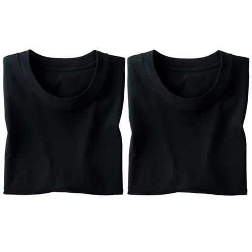 【メンズ】 男の綿100%半袖クルーネックTシャツ・2枚組