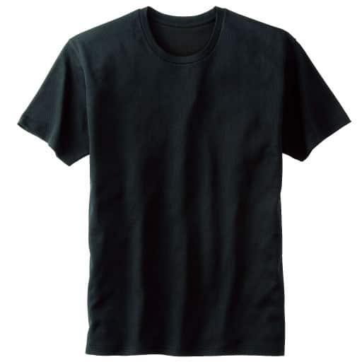 <セシール> 50%OFF【メンズ】 クルーネックTシャツ <サイズ>M、S <カラー>ブラック