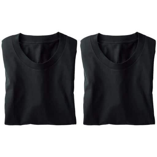 【メンズ】 男の綿100%スリーブレス丸首・2枚組 - セシール