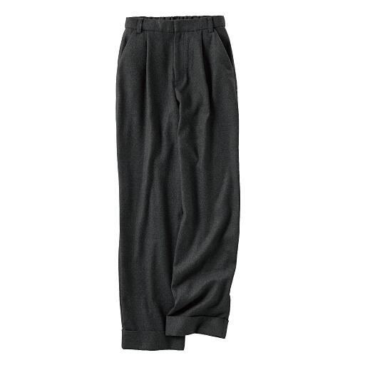 【SALE】 【レディース】 ふっくらツイード調裾ダブルワイドパンツ