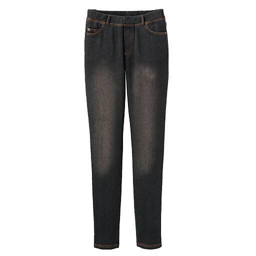 【レディース】 ニットデニムスキニーパンツ(スマートニットジーンズ)(美脚パンツ・SSサイズ・選べる3レングス)の通販