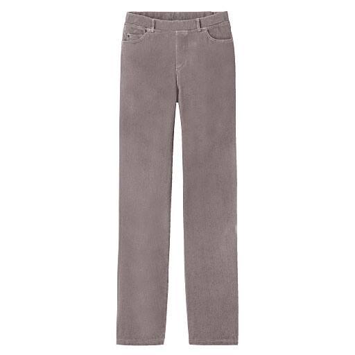 【レディース】 ニットデニムストレートパンツ(スマートニットジーンズ)(美脚パンツ・SSサイズ・選べる3レングス)