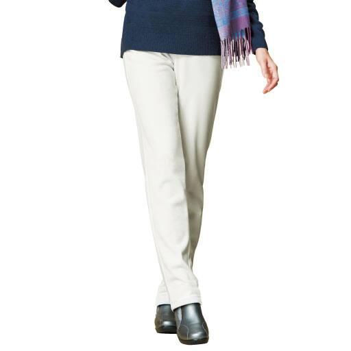 【SALE】 【レディース】 蓄熱保温 ふんわり両面起毛パンツ(美脚パンツ・選べる2レングス・日本製) – セシール