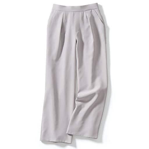 【SALE】 【レディース大きいサイズ】 ストレッチワイドパンツ(美脚パンツ)