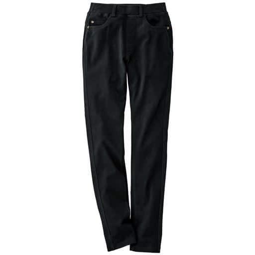 【レディース大きいサイズ】 ニットデニムストレートパンツ(スマートニットジーンズ)(美脚パンツ・選べる3レングス) – セシール