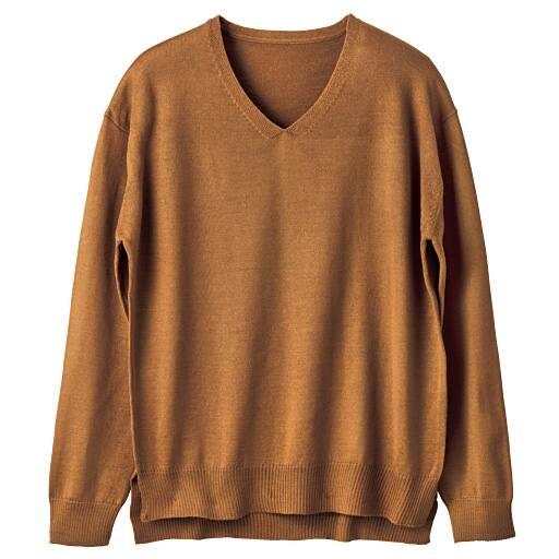 【SALE】 【レディース】 Vネックセーター(ウール混・洗濯機OK)