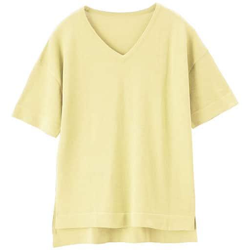 【レディース】 Tシャツデザインニット(吸汗速乾 UVケア)