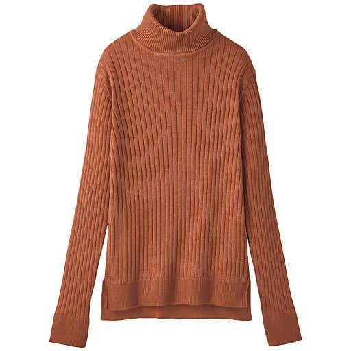 【SALE】 【レディース】 ワイドリブタートルネックセーター