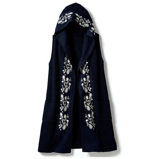 【SALE】 【レディース大きいサイズ】 刺繍使いニットジレ – セシール