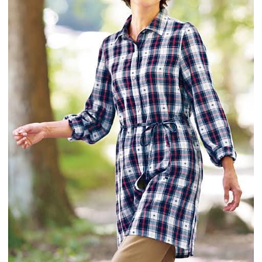 【SALE】 【レディース】 コットンチェックシャツの通販