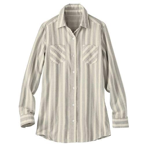 【レディース】 ダブルガーゼレギュラーシャツ(綿100%)の通販