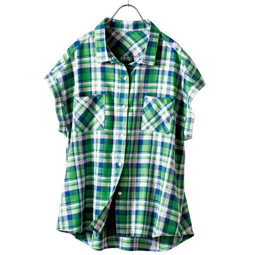 【SALE】 【レディース】 日本製 レーヨンチェックシャツの通販
