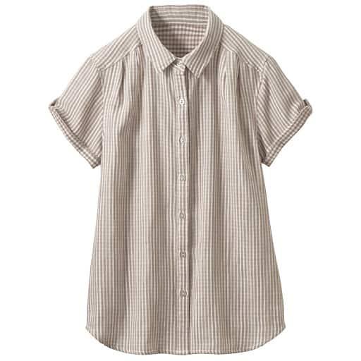 【レディース】 ダブルガーゼレギュラーシャツの通販