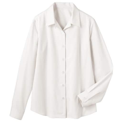 【レディース】 形態安定ハマカラーシャツ(長袖)(UVカット・抗菌防臭)の通販