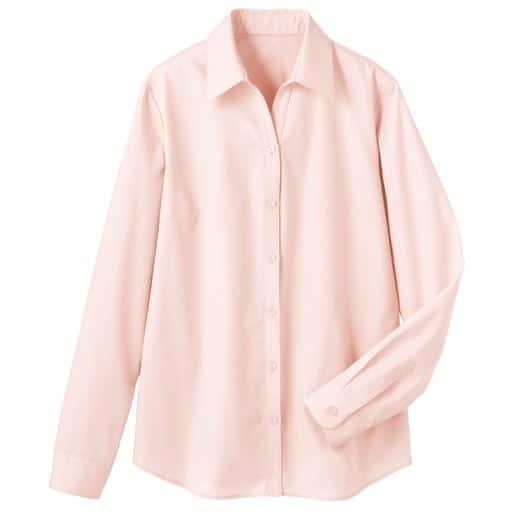 【レディース】 形態安定ベルカラーシャツ(長袖)(UVカット・抗菌防臭)の通販
