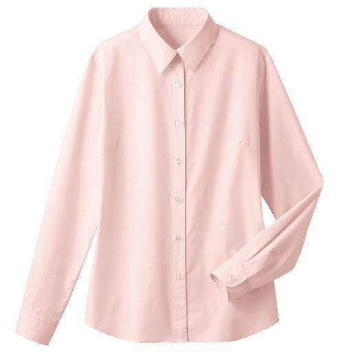 【レディース】 形態安定レギュラーカラーシャツ(長袖)(UVカット 抗菌防臭)の通販