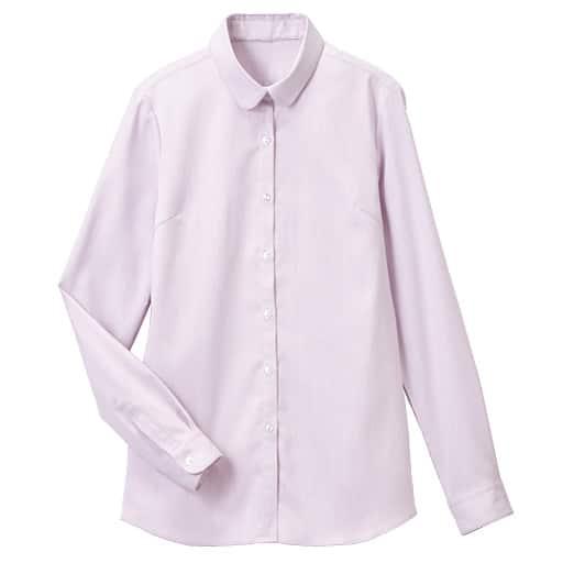 【レディース】 ラウンドカラーシャツ