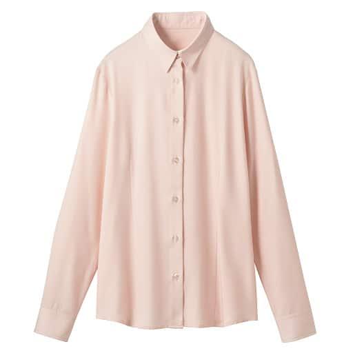 【レディース】 裏起毛レギュラーカラーシャツ(形態安定)