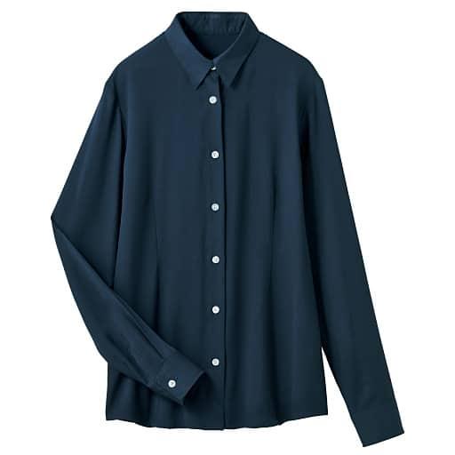 【レディース】 裏起毛レギュラーカラーシャツ(形態安定) – セシール