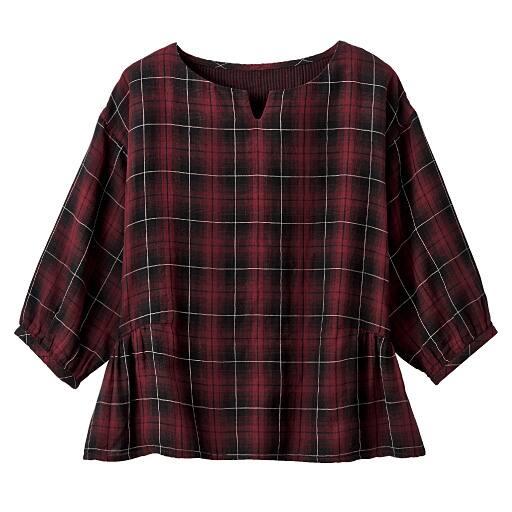 【SALE】 【レディース】 綿100%ダブルガーゼプルオーバーシャツの通販