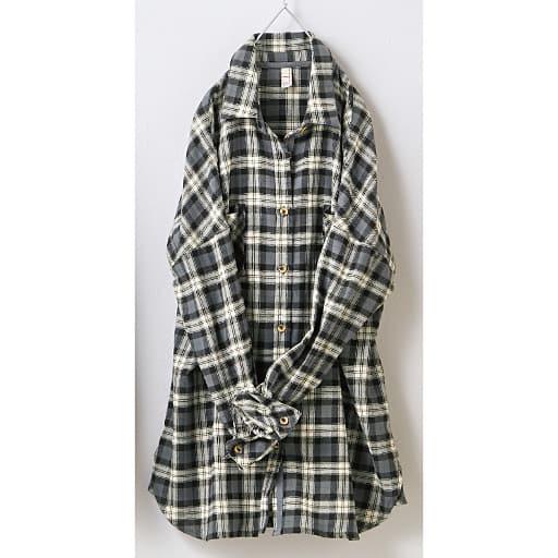 【SALE】 【レディース】 ゆったりチェックシャツの通販